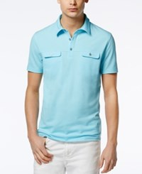 Alfani Men's Two Pocket Polo Only At Macy's Sea Coast Combo