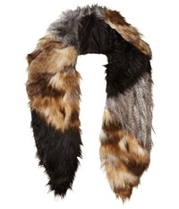 Michael Stars Faux Real Faux Fur Scarf Multi Scarves