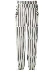 Andrea Bogosian Striped Leather Trousers 60