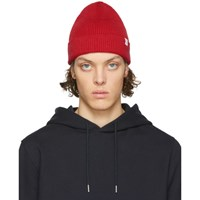 Norse Projects Red Cotton Watch Beanie