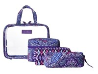 Vera Bradley Four Piece Cosmetic Organizer Lilac Tapestry Cosmetic Case Purple