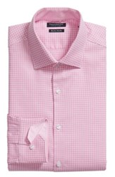 Tailorbyrd Big And Tall Anson Trim Fit Check Dress Shirt Pink