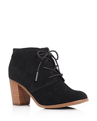 Toms Lunata Lace Up High Heel Booties Black