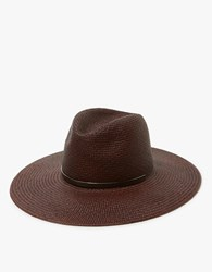 Janessa Leone Emma Wide Brimmed Hat In Chestnut Brown
