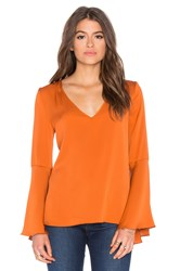Milly Flutter Sleeve Top Rust
