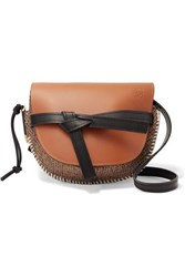 Loewe Gate Small Leather And Tweed Shoulder Bag Tan