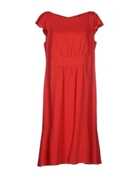 Valentino Roma Knee Length Dresses Red