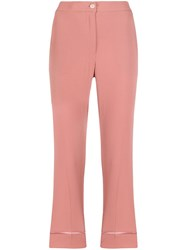 Semicouture Cropped Turn Up Trousers 60