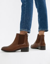 Aldo Leather Chelsea Boots Tan