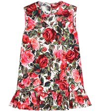 Dolce And Gabbana Printed Cotton Sleeveless Top Multicoloured