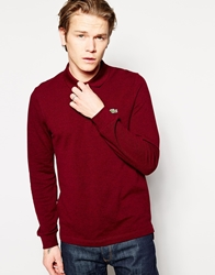 Lacoste Live Long Sleeve Polo Red