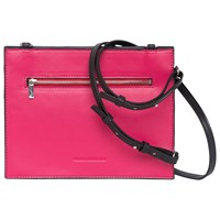 French Connection Dexter Upside Down Cross Body Bag Black Magenta