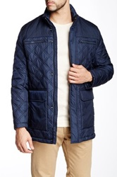 Andrew Marc New York Futon Quilted Jacket Blue