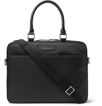 Want Les Essentiels Haneda Leather Trimmed Nylon Briefcase Black