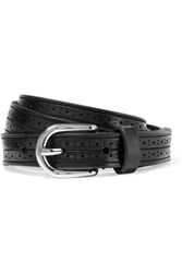 Isabel Marant Kaylee Perforated Leather Belt Black
