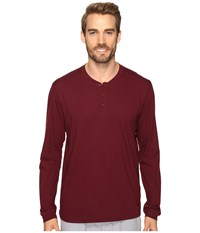 Adidas Postgame Long Sleeve Henley Top Maroon Black Men's Long Sleeve Pullover Red