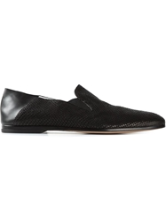 Alexander Mcqueen Textured Panel Slippers