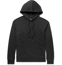 A.P.C. Brody Cotton Jersey Hoodie Black