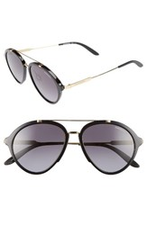 Carrera Women's Eyewear 54Mm Gradient Aviator Sunglasses Shiny Black Gold