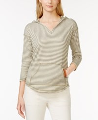 American Living Three Quarter Sleeve Hooded Top Only At Macy's