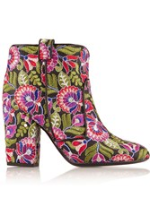 Laurence Dacade Pete Embroidered Canvas Ankle Boots