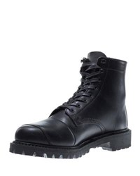Wolverine Dylan Leather Moto Boot Black