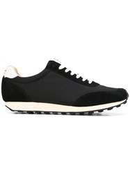 Ymc Tabi Trainers Men Leather Nylon Calf Suede Rubber 44 Black