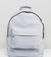 Mi Pac Exclusive Faux Croc Backpack In Grey Grey