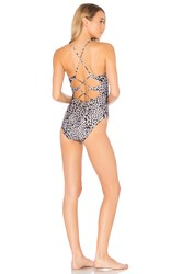 Vix Swimwear Deva Twisted One Piece Gray
