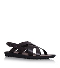 Tod's Leather Strap Sandals Male Brown