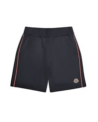 Moncler Trimmed Cotton Sweat Shorts Navy Size 4 6 Size 6