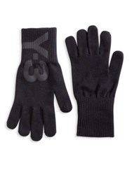 Y 3 Logo Graphic Gloves Black