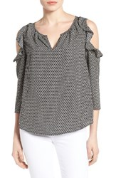Gibson Women's Ruffled Cold Shoulder Blouse