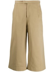 Jejia Cropped Wide Leg Trousers Neutrals