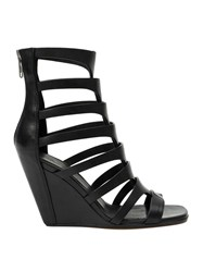 Rick Owens Gladiator Wedge Sandals Black
