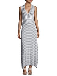 Vince Camuto Echo Mini Stripe Sleeveless Dress Light Heather Grey