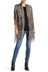 Chelsey Imports Animal Print Wrap Brown