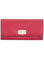 Michael Michael Kors Gold Tone Hardware Continental Wallet Red