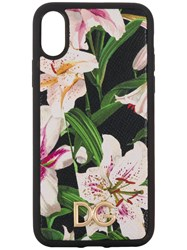 Dolce And Gabbana Floral Print Iphone X Case Black