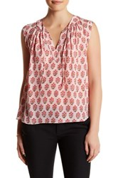 Rebecca Taylor Sleeveless Valentina Silk Shirt Pink