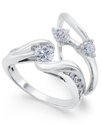 Macy's Diamond Bridal Set 1 Ct. T.W. In 14K White Gold