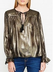 Just Cavalli Metallic Blouse Gold