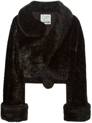 Moschino Vintage Artificial Fur Coat Black