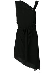 Saint Laurent Asymmetric Knot Dress Black