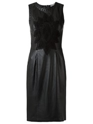Martha Medeiros Leather Dress Black