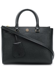 Tory Burch Robinson Small Double Zip Shoulder Bag Black