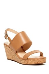 Vince Camuto Ansel Wedge Sandal Brown