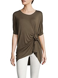 Lea And Viola Twist Front Top Olive