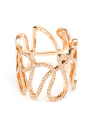 Repossi 18Kt Rose Gold And Diamond 'White Noise' Ring Pink And Purple