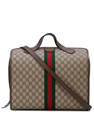 Gucci Ophidia Gg Small Carry On Duffle Brown